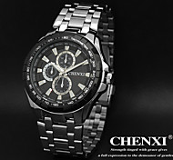 CHENXI® Men's Dress Watch Fashion Design Silver Steel Strap Wrist Watch Cool Watch Unique Watch
