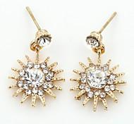 Ohrstecker Kristall Strass vergoldet Imitation Diamant 18K Gold Modisch Gold Silber Rotgold Schmuck 2 Stück
