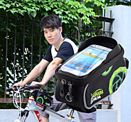 "Acacia Bicycle 5.5"" Touch Screen Phone Bag w/ 3.5mm Earphone Jack – Black + Green"