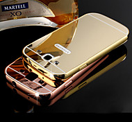 DUBAI® Luxury Super Thin Shine Acrylic Mirror Cover Back Plating Metal Frame Full Body Case for Samsung Galaxy S3/I9300