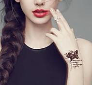 Séries Animal/Séries Flores - Yimei - Tatuagem Adesiva - Non Toxic/Waterproof - para