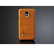 PU Leather Oil Wax Wave Full Body Case for Samsung Galaxy S5 I9600 (Assorted Color)