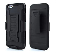 Newest Armor Silicone and PC Back Case with Stand for Iphone 6