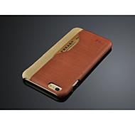 caso de cuero de la venta caliente para el iphone 6 más