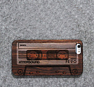 Wood Shell Personality/Retro Tape for iPhone 6