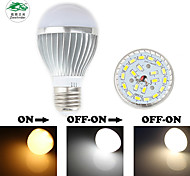 Zweihnder E27 5W 450LM 3000-6000K 20x5730 SMD Dual Color Temperature Bulb Light (new products,AC 85-265V,1Pcs)