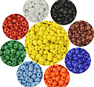 Beadia 90g(Approx 6000Pcs)  2mm Round Seed Beads 9 Colors U-Pick Glass Pony Beads DIY Accessories