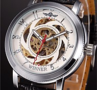 WINNER® Men's Auto-Mechanical Skeleton Watch PU Leather Band Wrist Watch Cool Watch Unique Watch Fashion Watch
