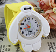 Children's Cute Cartoon Silicone Baymax Pattern   Lovely Digital Quartz Slap Watch Cool Watches Unique Watches