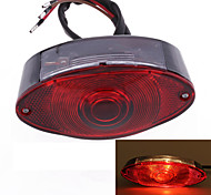 motocicleta moto cauda levou luz traseira DC 12V gatos olhos vermelhos (1 pc)