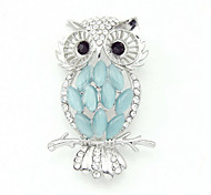 The Cute Golden Owl Brooch Clothing Accessories