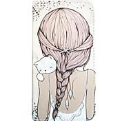 длинном волосы внутри полосы диаграммы кобуры карты для Samsung Galaxy Note 4