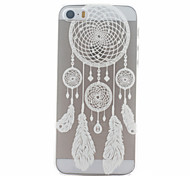 White Campanula Pattern Ultrathin Hard Back Cover Case for iPhone 5/5S