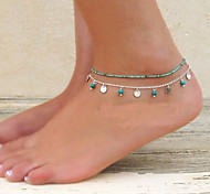 Fashion Summer Beach Simple Turquoise Anklet(1pc)