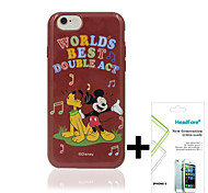 "Disney Singing Mickey Cover Case for Iphone6/6S 4.7"" Free with Headfore Screen Protector for Iphone6/6S 4.7""-Red"