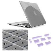 "3 in 1 Crystal Clear Case with Keyboard Cover and Silicone Dust Plug for Macbook Retina 15.4"" (Assorted Colors)"
