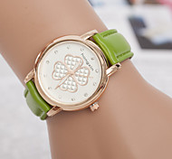 Women's Lucky Clover Ladies Diamond Bracelet Watch