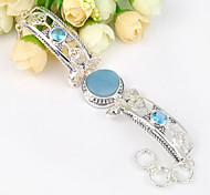 2015 antiguo amazonita naturales pulseras joya topacio azul cadena de plata 0.925 brazaletes para el banquete de boda de fiesta todos los