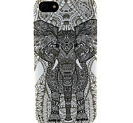 Fashion Design COCO FUN® Black Mammoth Pattern Soft TPU IMD Back Case Cover for iPhone 5/5S