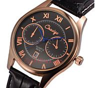 Couple's Fashion Dial Leather Band Calendar Quartz Analog Wrist Dress Watch
