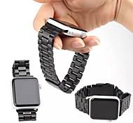 de haute qualité cinq billes en acier inoxydable boucle classique Bracelet avec connecteur pour montre de pomme 38mm / 42mm