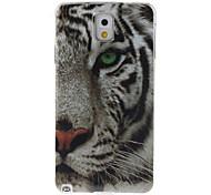 patrón de tigre blanco TPU caso suave para Samsung Galaxy Note 3