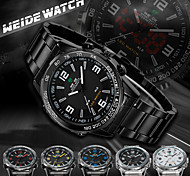 WEIDE Men Analog Digital Sport Watch Stainless Steel Stopwatch/Alarm Backlight/Waterproof