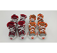 Lovely Fashion Red/Green/Orange Cotton Pet Boots  Dog Shoes