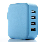 4-Port 21W Family-sized USB Wall Charger AC Power Adapter for Apple and Anroid Devices