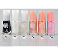 BK Natural Environmental  Water-based Tasteless Soak off Nail Polish(7ml,No.1-6)