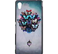 Butterfly Pattern Ultrathin Hard Back Cover Case for Sony M4