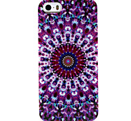 Fashion Design COCO FUN® Purple Circle Floral Pattern Soft TPU IMD Back Case Cover for iPhone 5/5S