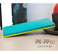 batería externa del banco de potencia peepee 10000mah pw-PS30 para iPhone6 / samsung Nota4 / sony / HTC y otros dispositivos móviles