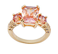 Size 6/7/8/9 High Quality Women Orange Sapphire Rings 10KT Yellow Gold Filled Ring