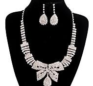 jóias de cobre prata moda longa queda totalmente strass jogo 3