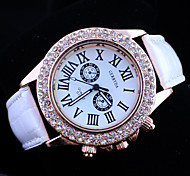 Women's Diamond PU Band Quartz Wrist Watch