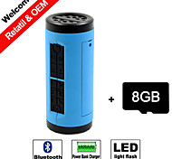 8GB TF Card and Portable Power Bank Charger Bicycle Bluetooth Speaker Hands-free Micro SD Aux LED light Sport speaker