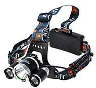 Lights Headlamps Headlamp Straps LED 1800 lumens Lumens 4 Mode Cree XM-L T6 18650 Super Light Camping/Hiking/Caving Aluminum alloy Rubber
