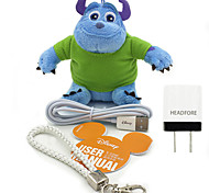 Disney James Plush Cotton Doll Power Bank External Battery For Iphone , Samsung  And Any USB Device