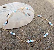 Fashion Handmade Summer Beach Simple Bead Anklet(1pc)