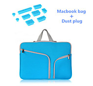 """alta qualidade saco de manga alça de zíper com plugue poeira silicone para macbook retina 15,4 """"(cores sortidas)"""