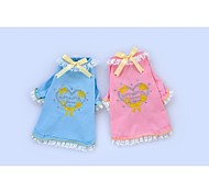 New Design Fashion Pet Clothes Blue/Pink Cotton T-Shirt For Dogs