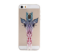 Cute Giraffe Pattern Transparent PC Hard Back Cover Case for iPhone 5/5S
