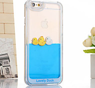 Cute Water & Duck Flowing Crystal Clear Design Plastic Hard Case Cover for iPhone 6