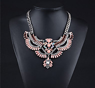 Alloy Plated With Flowers Cubic Zirconia Fashion Necklace
