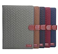 plaid Stil PU-Lederetui Kartensteckplätze mit Halter für iPad 2 Luft (verschiedene Farben)