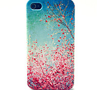 Cherry Blossoms Pattern TPU Material Phone Case for iPhone 4/4S