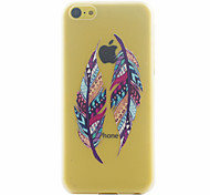 Feather Pattern PC Material Phone Case for iphone 5C