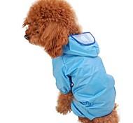 Blue/Pink Waterproof Terylene Rain Coat For Dogs