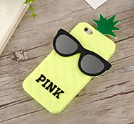 Second Generation of Pineapple Glasses Silicone Soft Shell for iPhone 6(Assorted Colors)